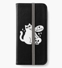 I Loves Skulls Cat iPhone Wallet/Case/Skin