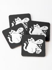 I Loves Skulls Cat Coasters