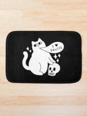 I Loves Skulls Cat Bath Mat