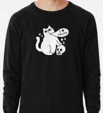 I Loves Skulls Cat Lightweight Sweatshirt