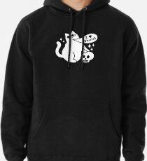 I Loves Skulls Cat Pullover Hoodie
