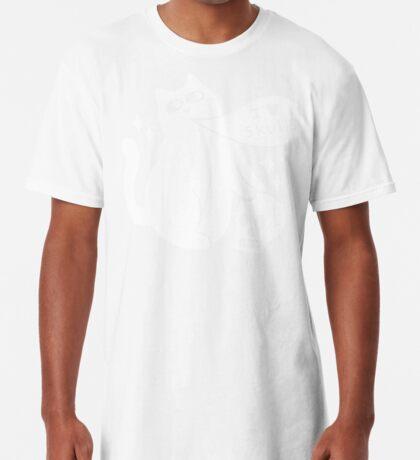 I Loves Skulls Cat Long T-Shirt