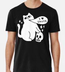 I Loves Skulls Cat Premium T-Shirt