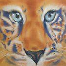 Bright Eyes - Tiger totem by Cheryl White