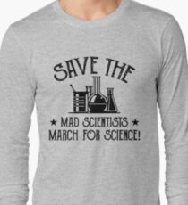 Comet Crab. SAVE THE MAD SCIENTISTS March for Science Long Sleeve T-Shirt