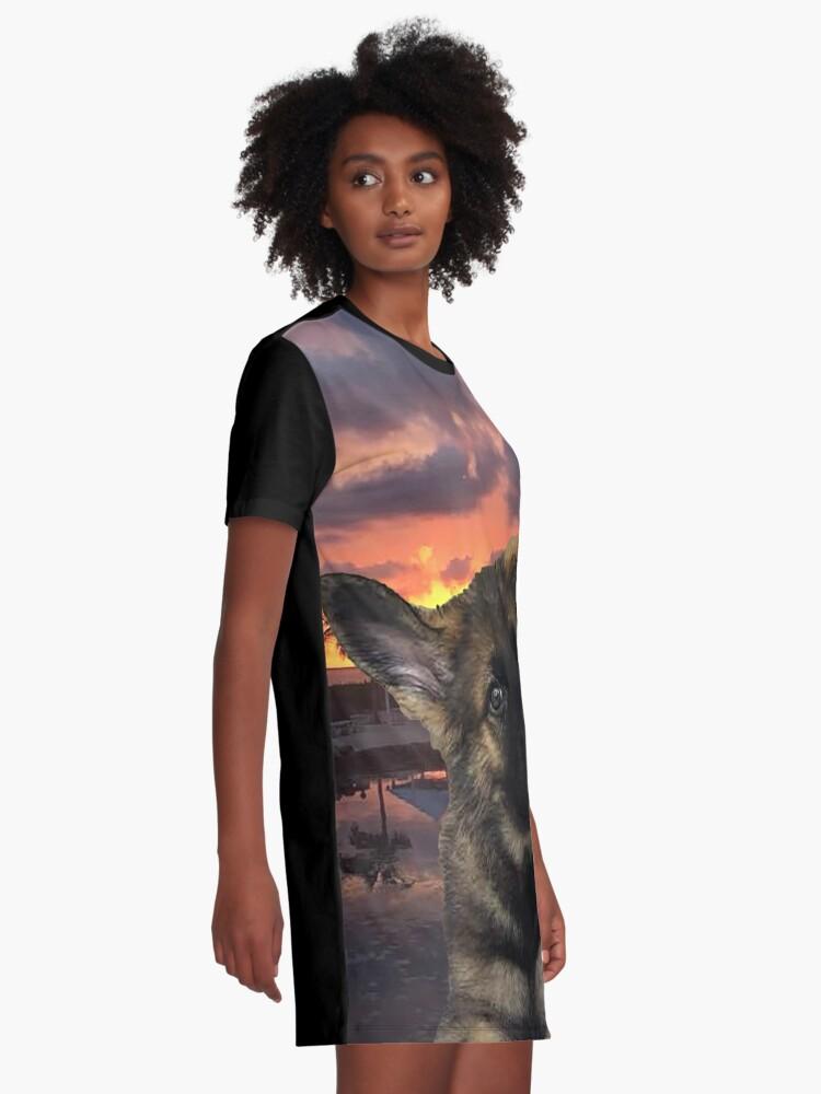 Alternate view of Loki German Shepherd Graphic T-Shirt Dress