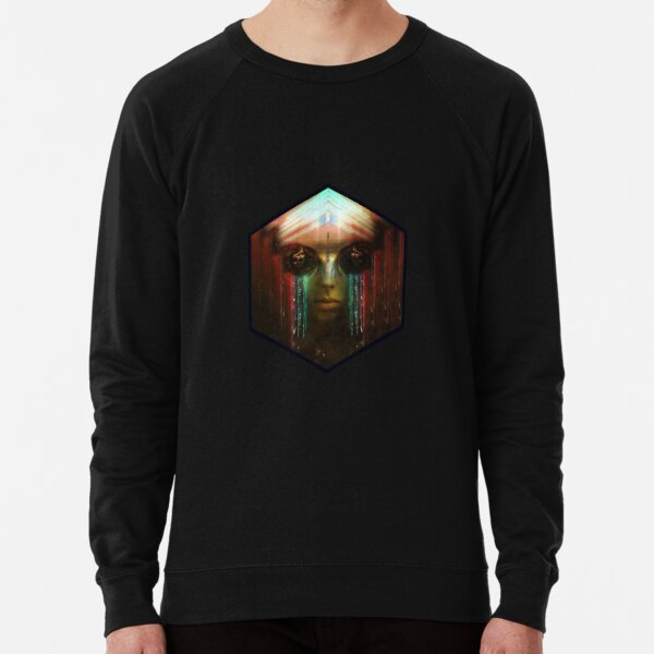 Dryad Weeping in Black Lightweight Sweatshirt