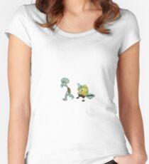FUNNY SPONGEBOB Women's Fitted Scoop T-Shirt