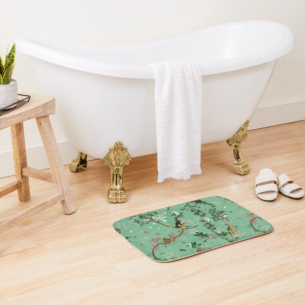Monkey World Green Bath Mat