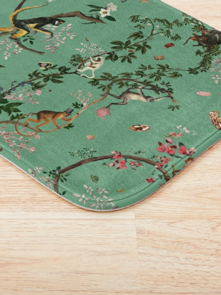 Alternate view of Monkey World Green Bath Mat