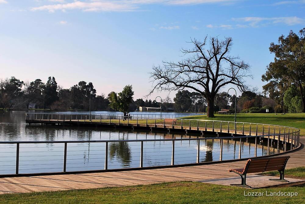 Peaceful Walking, Lake Weeroona. by Lozzar Landscape