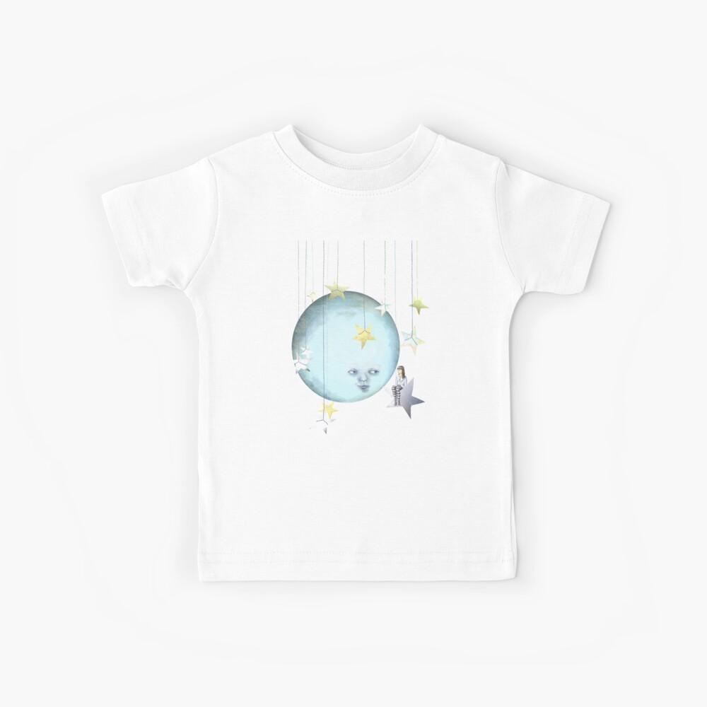 Mit den Sternen hängen Kinder T-Shirt