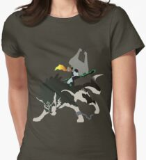 Wolf Link and Midna - Vector Art Women's Fitted T-Shirt