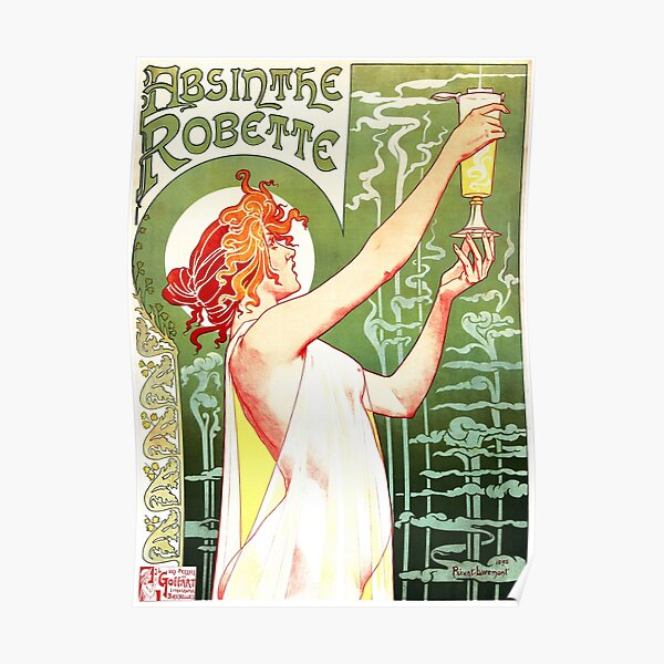 ABSINTHE ROBETTE by Henri Privat Livemont French Art Nouveau Poster