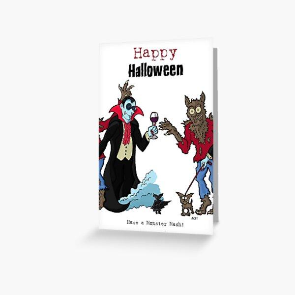 JokerWrap - Halloween Vampire Monster Mash! Greeting Card