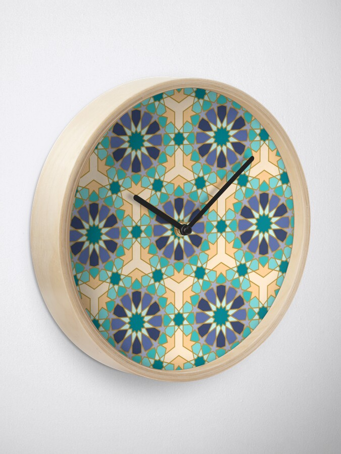 Alternate view of Geometric Pattern: Arabic Tiles: Dream Clock