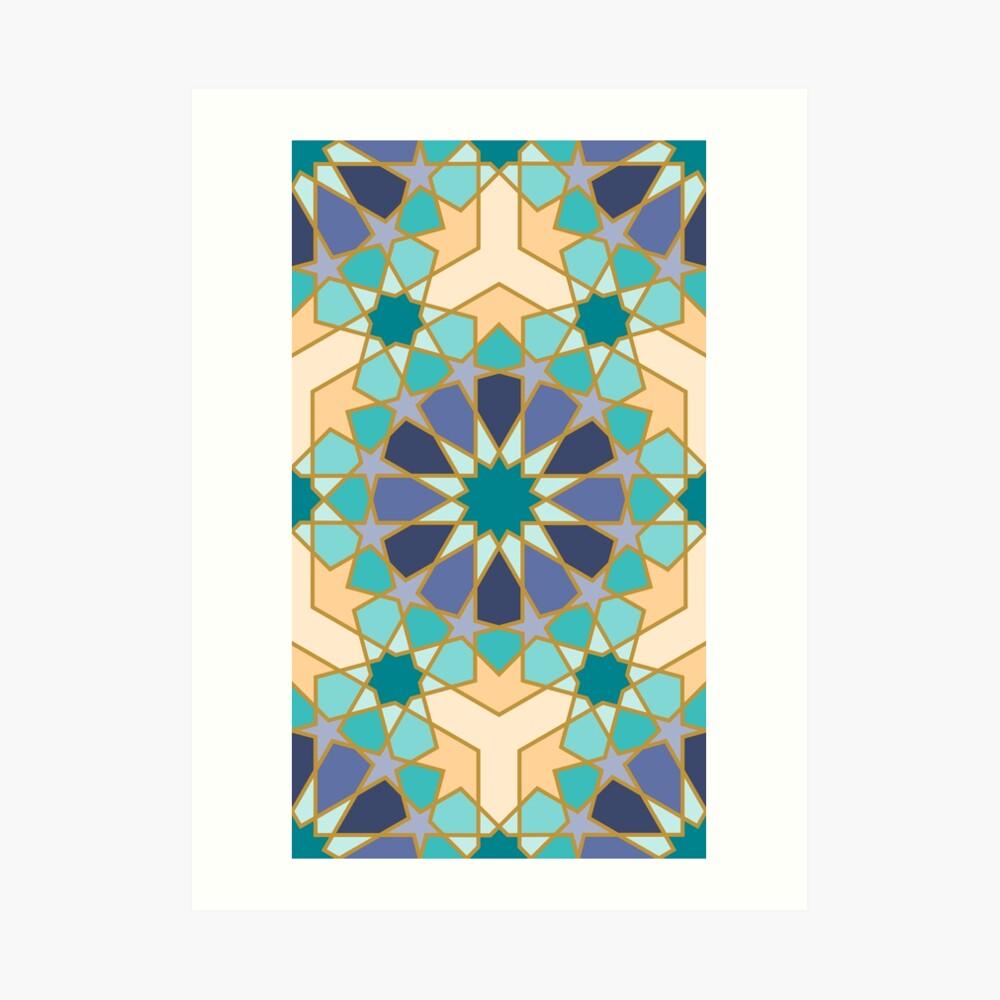 Geometric Pattern: Arabic Tiles: Dream Art Print