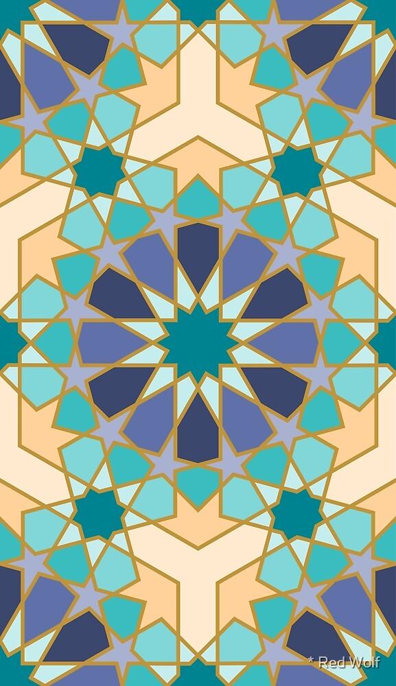 Geometric Pattern: Arabic Tiles: Dream by * Red Wolf