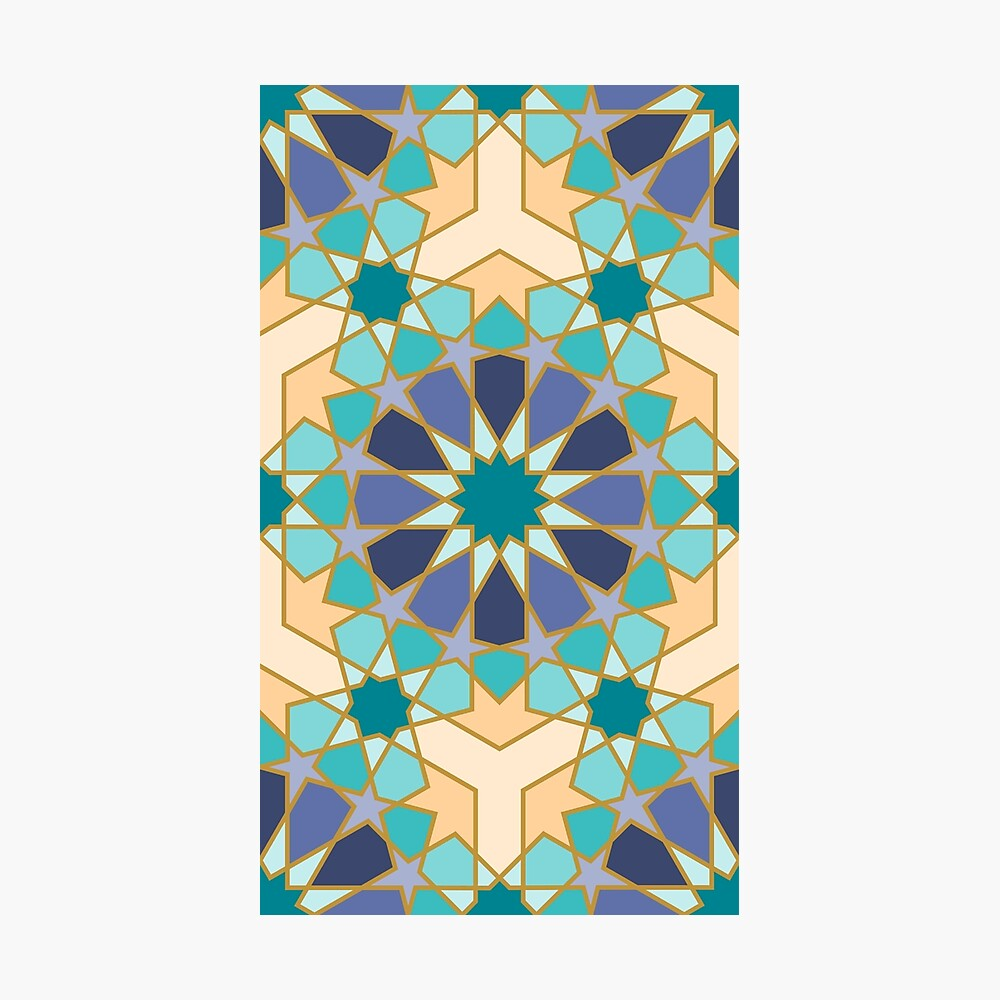 Geometric Pattern: Arabic Tiles: Dream Photographic Print