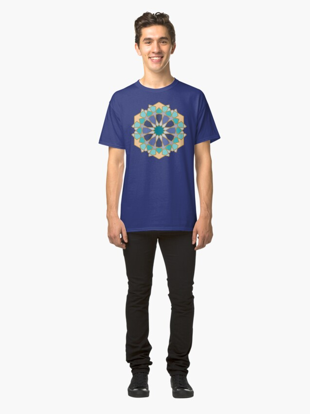 Alternate view of Geometric Pattern: Arabic Tiles: Dream Classic T-Shirt