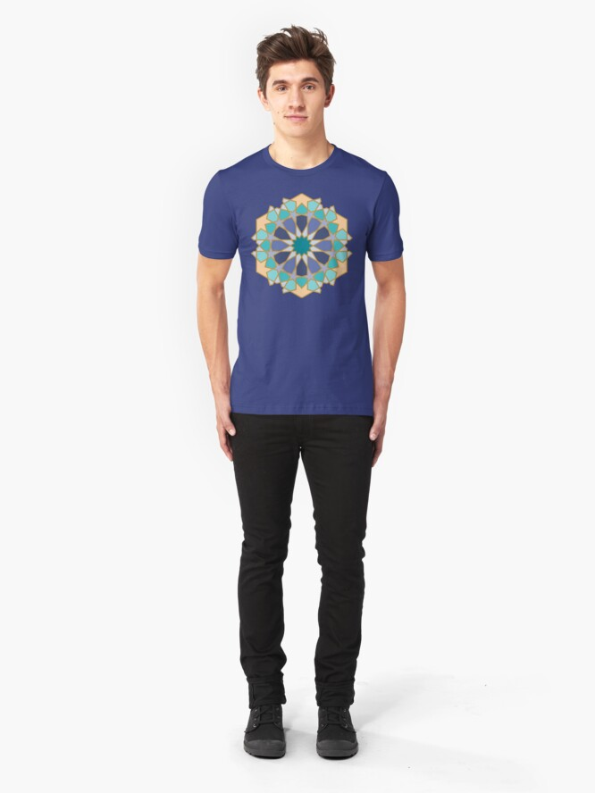 Alternate view of Geometric Pattern: Arabic Tiles: Dream Slim Fit T-Shirt