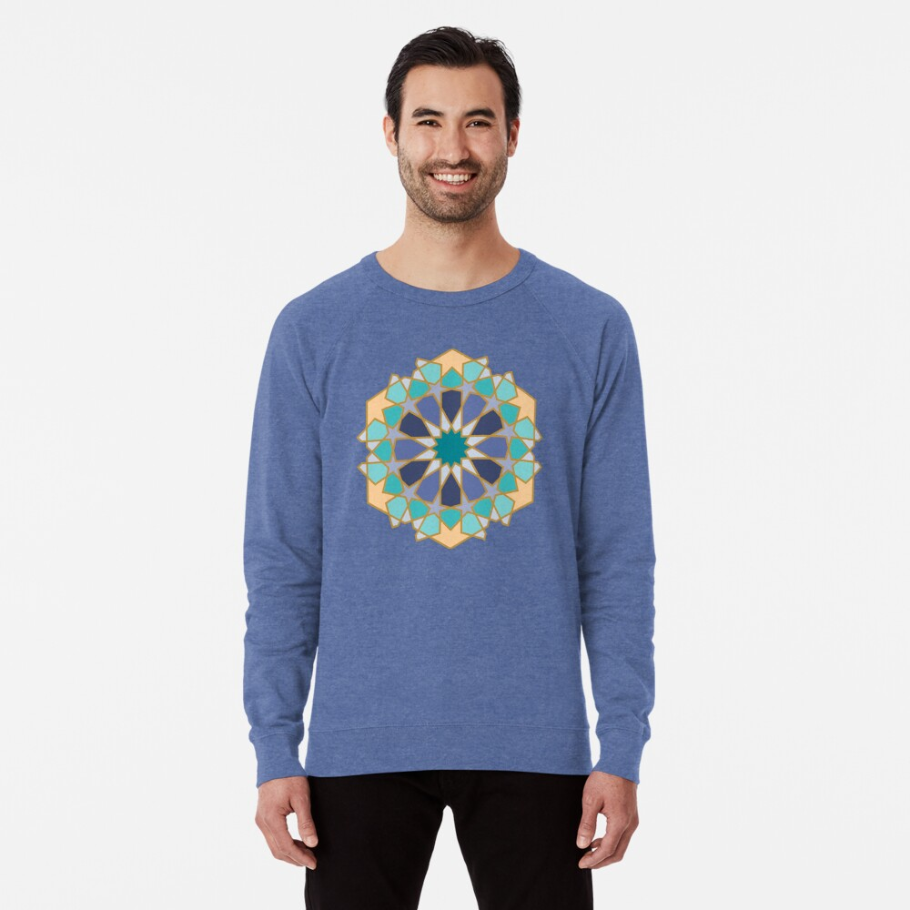 Geometric Pattern: Arabic Tiles: Dream Lightweight Sweatshirt