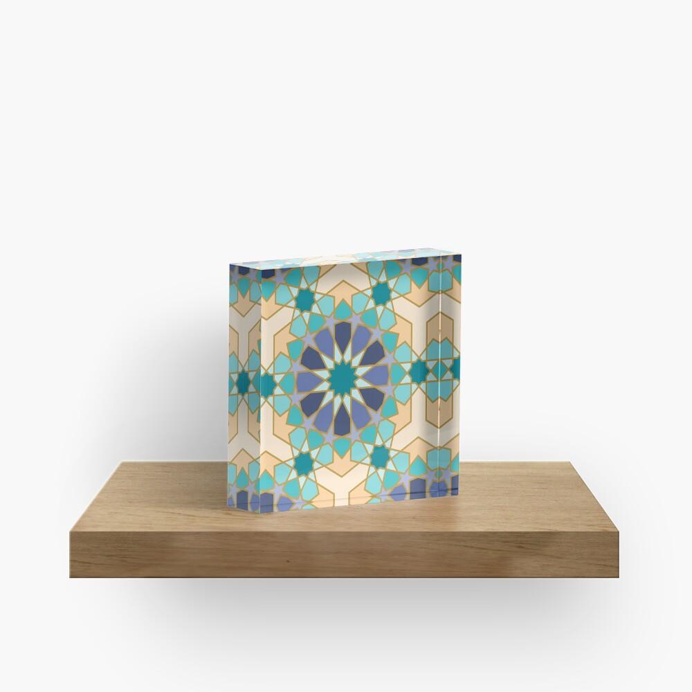 Geometric Pattern: Arabic Tiles: Dream Acrylic Block