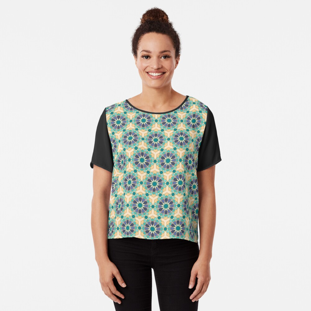 Geometric Pattern: Arabic Tiles: Dream Chiffon Top