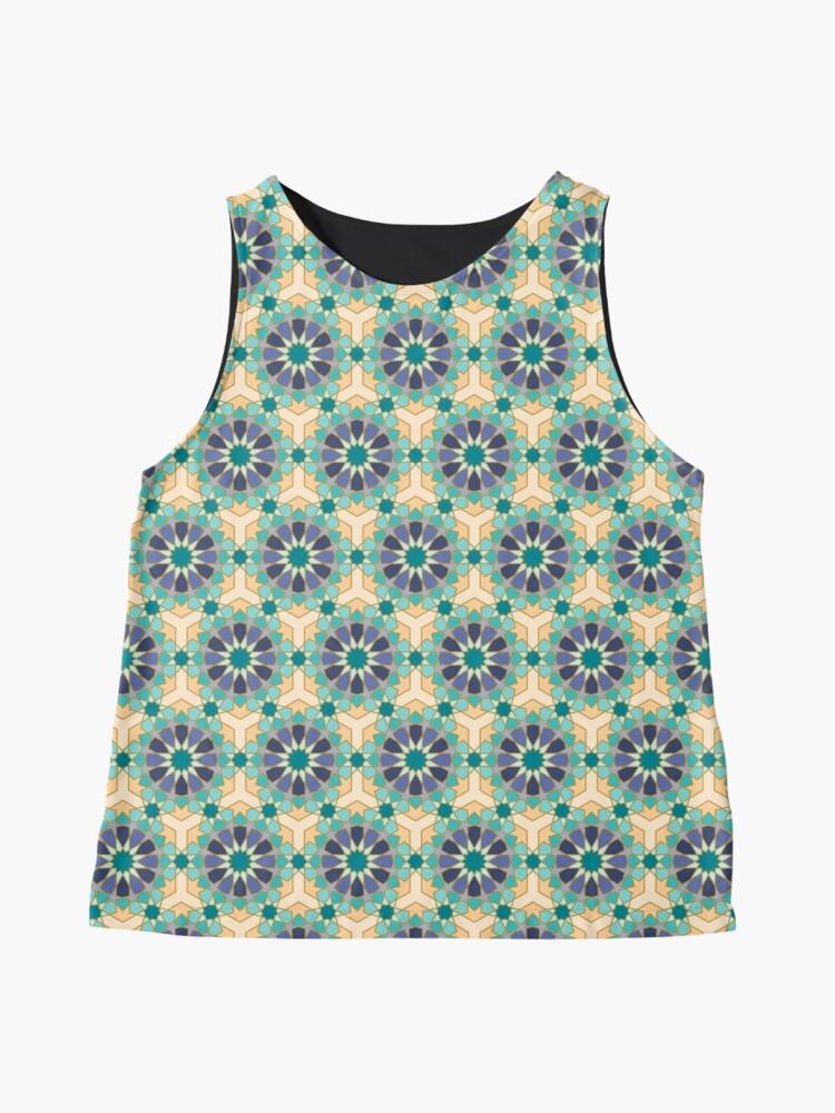 Alternate view of Geometric Pattern: Arabic Tiles: Dream Sleeveless Top