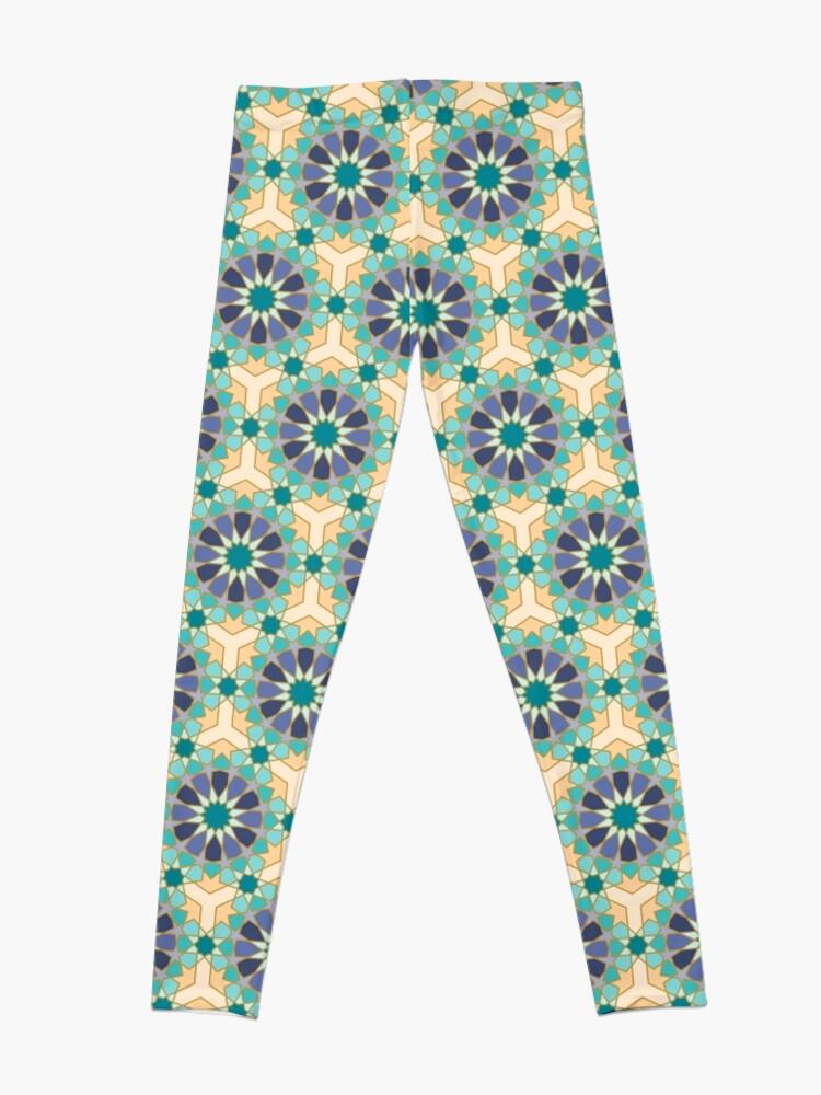 Alternate view of Geometric Pattern: Arabic Tiles: Dream Leggings