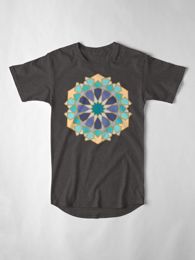 Alternate view of Geometric Pattern: Arabic Tiles: Dream Long T-Shirt