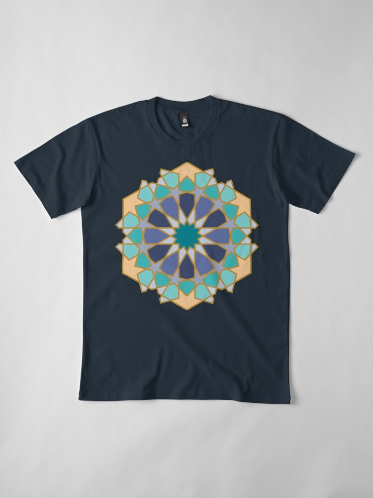Alternate view of Geometric Pattern: Arabic Tiles: Dream Premium T-Shirt