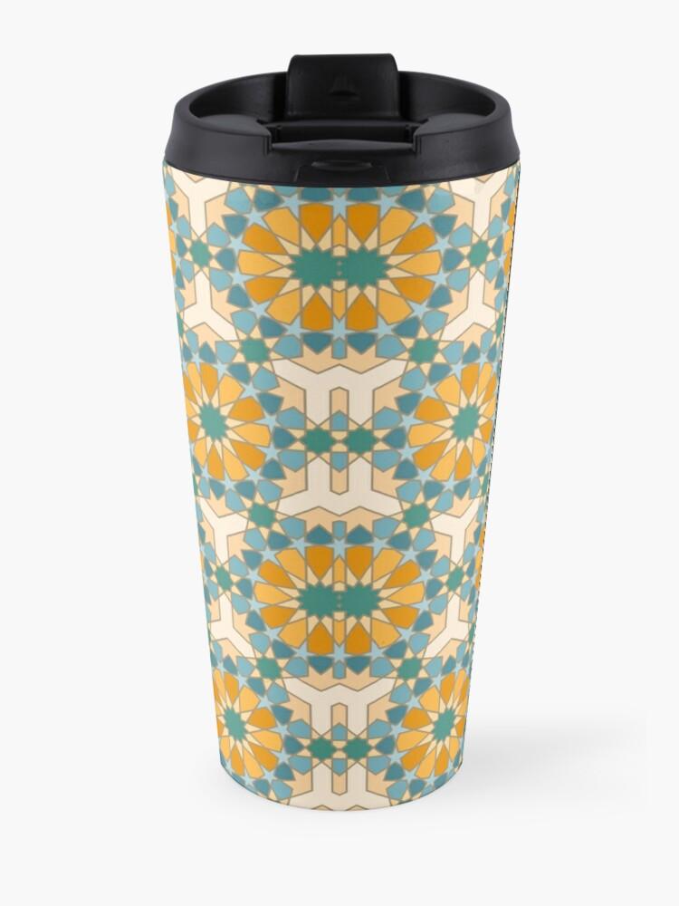 Alternate view of Geometric Pattern: Arabic Tiles: Lily Travel Mug