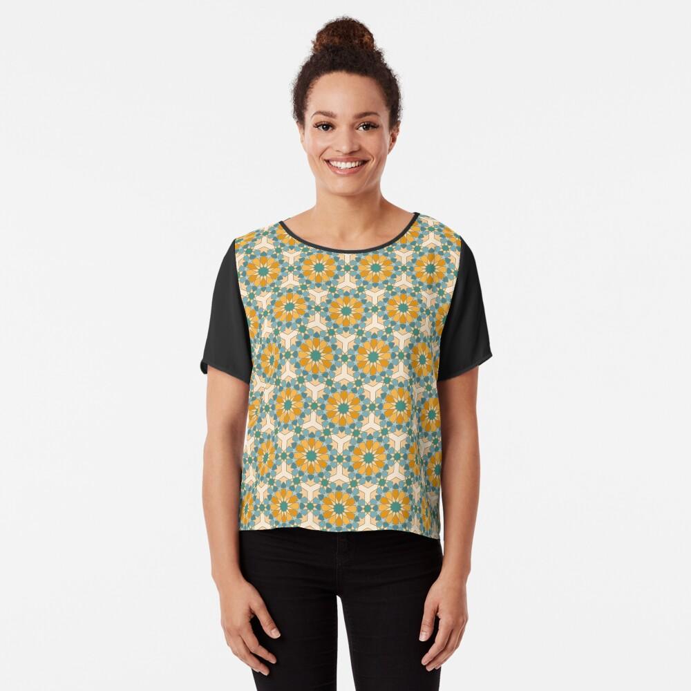 Geometric Pattern: Arabic Tiles: Lily Chiffon Top