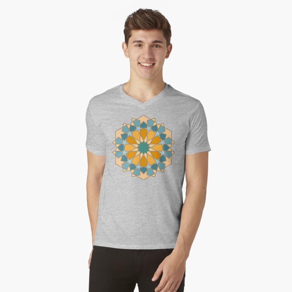 Geometric Pattern: Arabic Tiles: Lily V-Neck T-Shirt