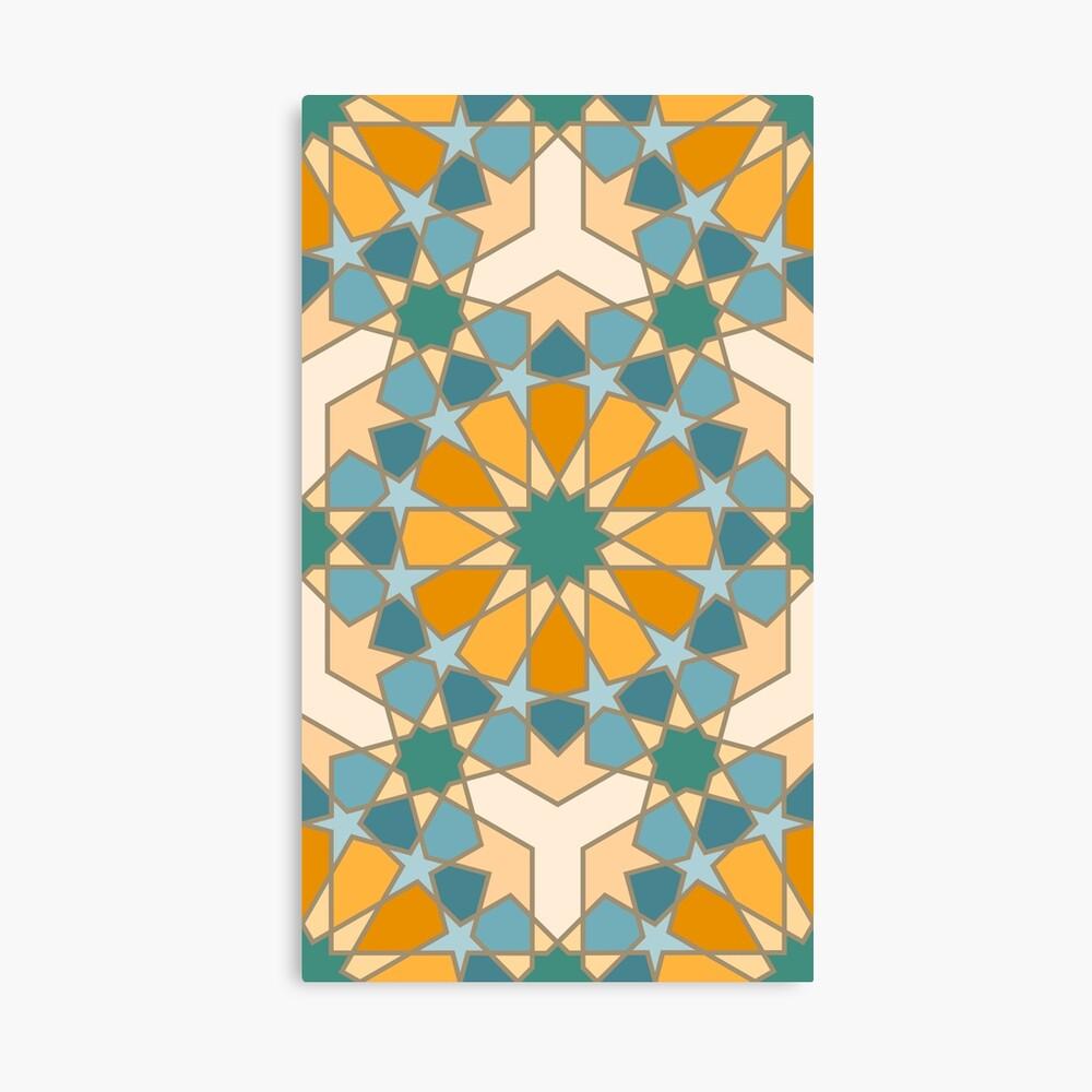 Geometric Pattern: Arabic Tiles: Lily Canvas Print