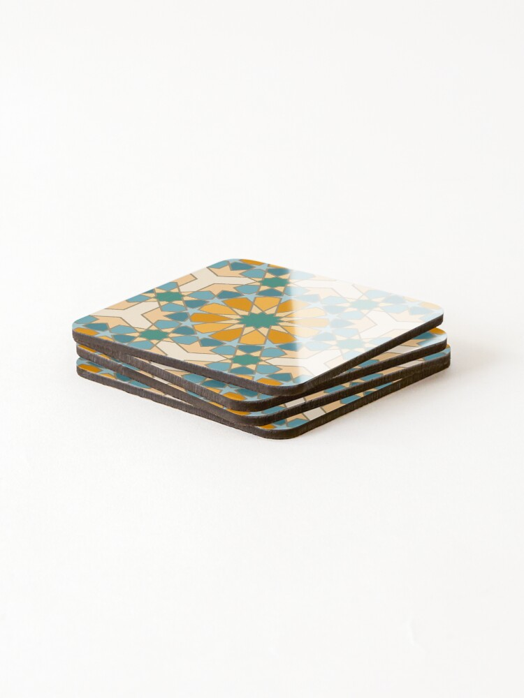 Alternate view of Geometric Pattern: Arabic Tiles: Lily Coasters (Set of 4)
