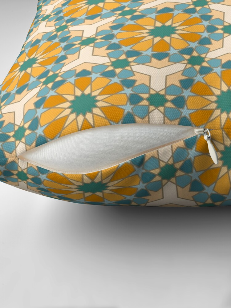 Alternate view of Geometric Pattern: Arabic Tiles: Lily Floor Pillow