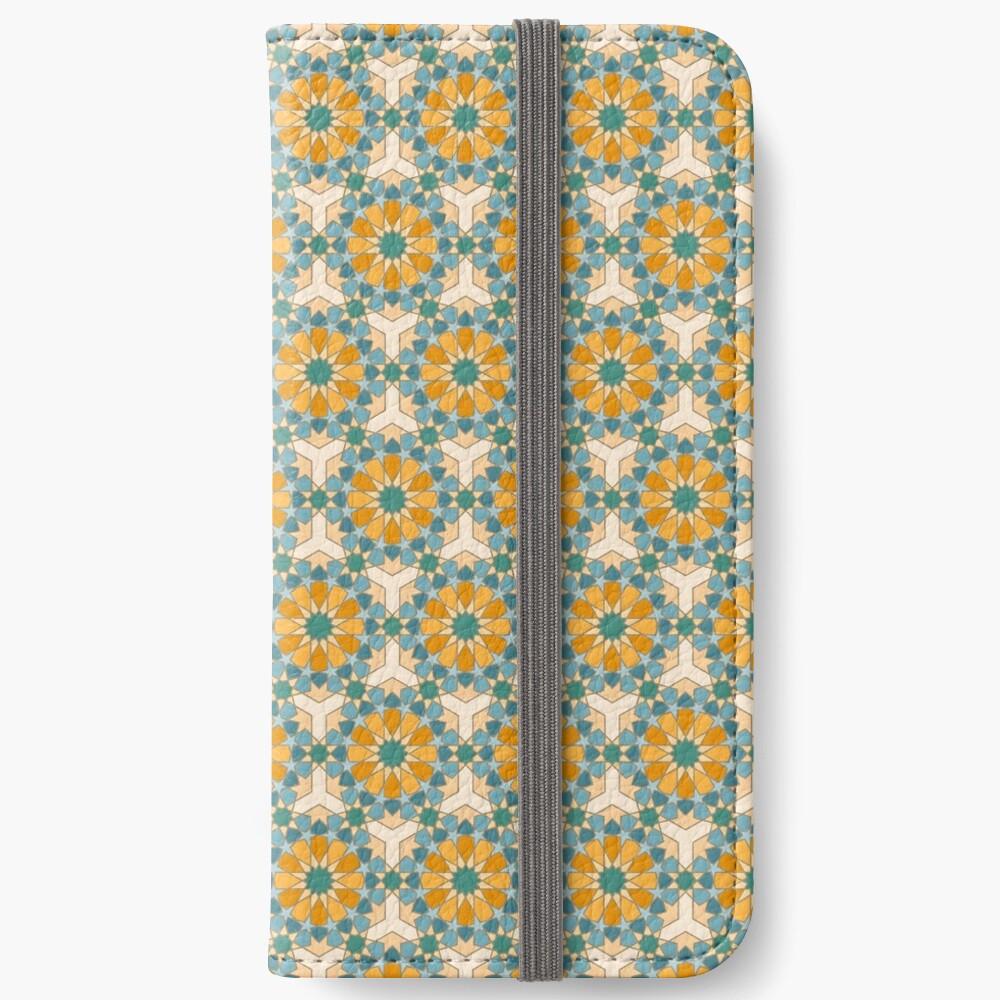 Geometric Pattern: Arabic Tiles: Lily iPhone Wallet