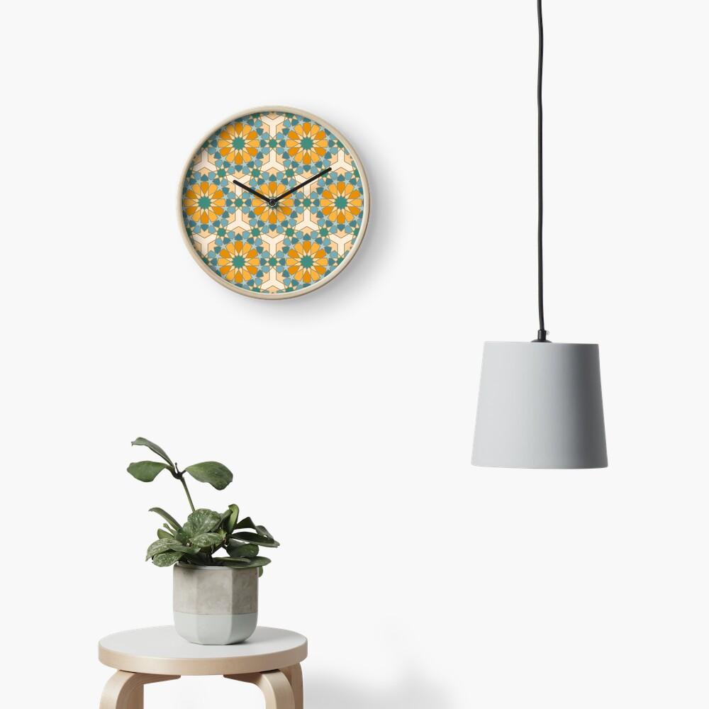 Geometric Pattern: Arabic Tiles: Lily Clock