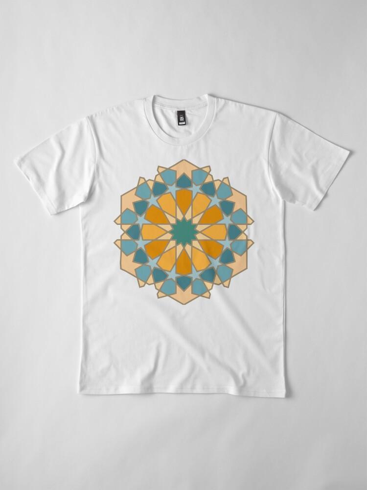 Alternate view of Geometric Pattern: Arabic Tiles: Lily Premium T-Shirt