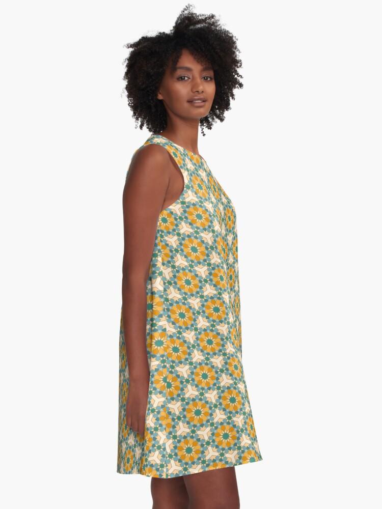 Alternate view of Geometric Pattern: Arabic Tiles: Lily A-Line Dress