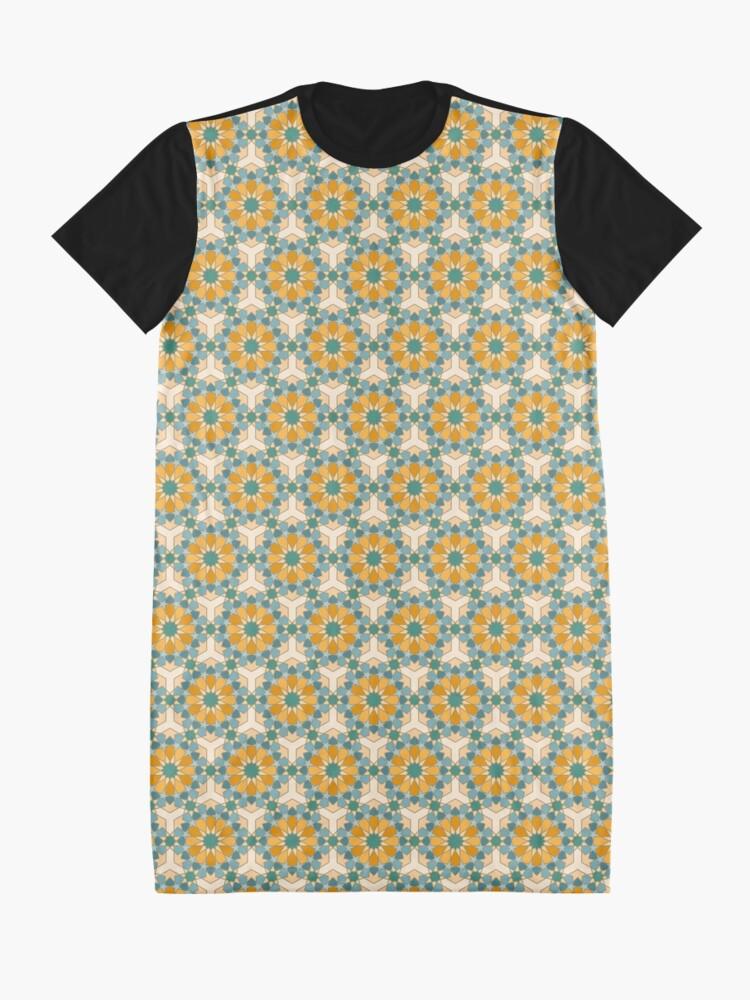 Alternate view of Geometric Pattern: Arabic Tiles: Lily Graphic T-Shirt Dress