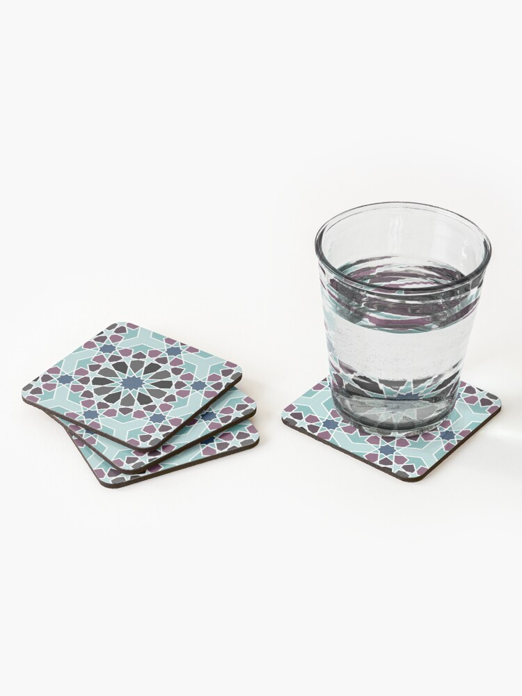 Alternate view of Geometric Pattern: Arabic Tiles: Midnight Coasters (Set of 4)