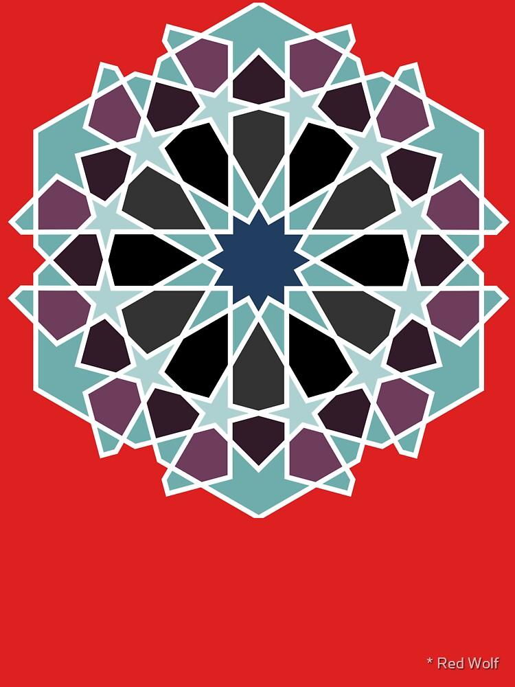 Geometric Pattern: Arabic Tiles: Midnight by redwolfoz