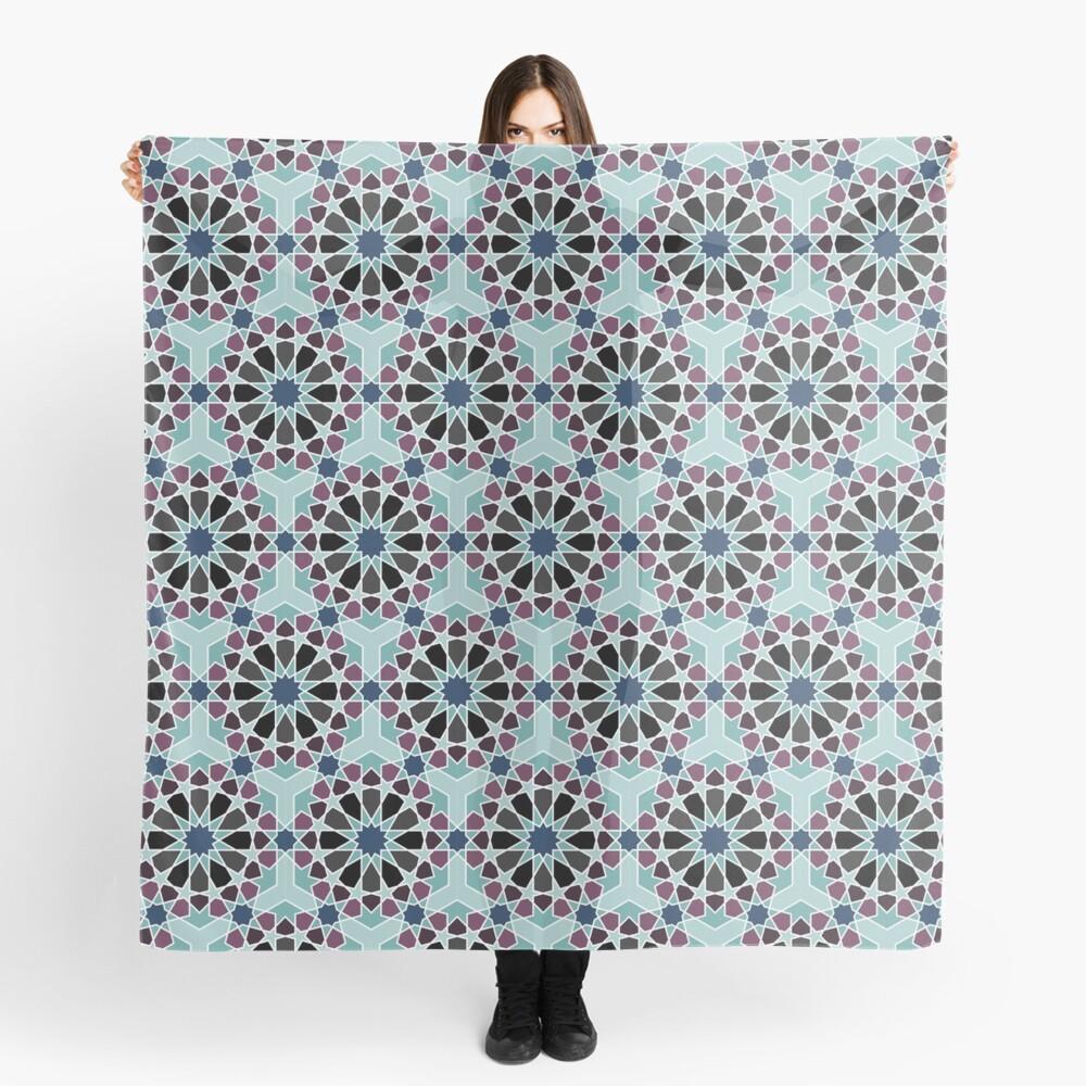 Geometric Pattern: Arabic Tiles: Midnight Scarf