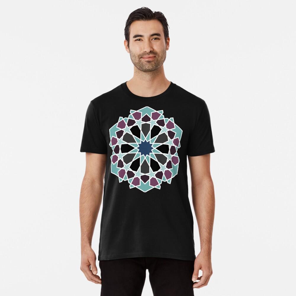 Geometric Pattern: Arabic Tiles: Midnight Premium T-Shirt