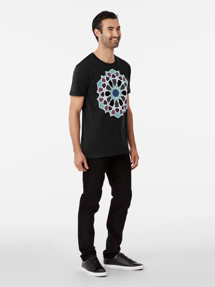 Alternate view of Geometric Pattern: Arabic Tiles: Midnight Premium T-Shirt