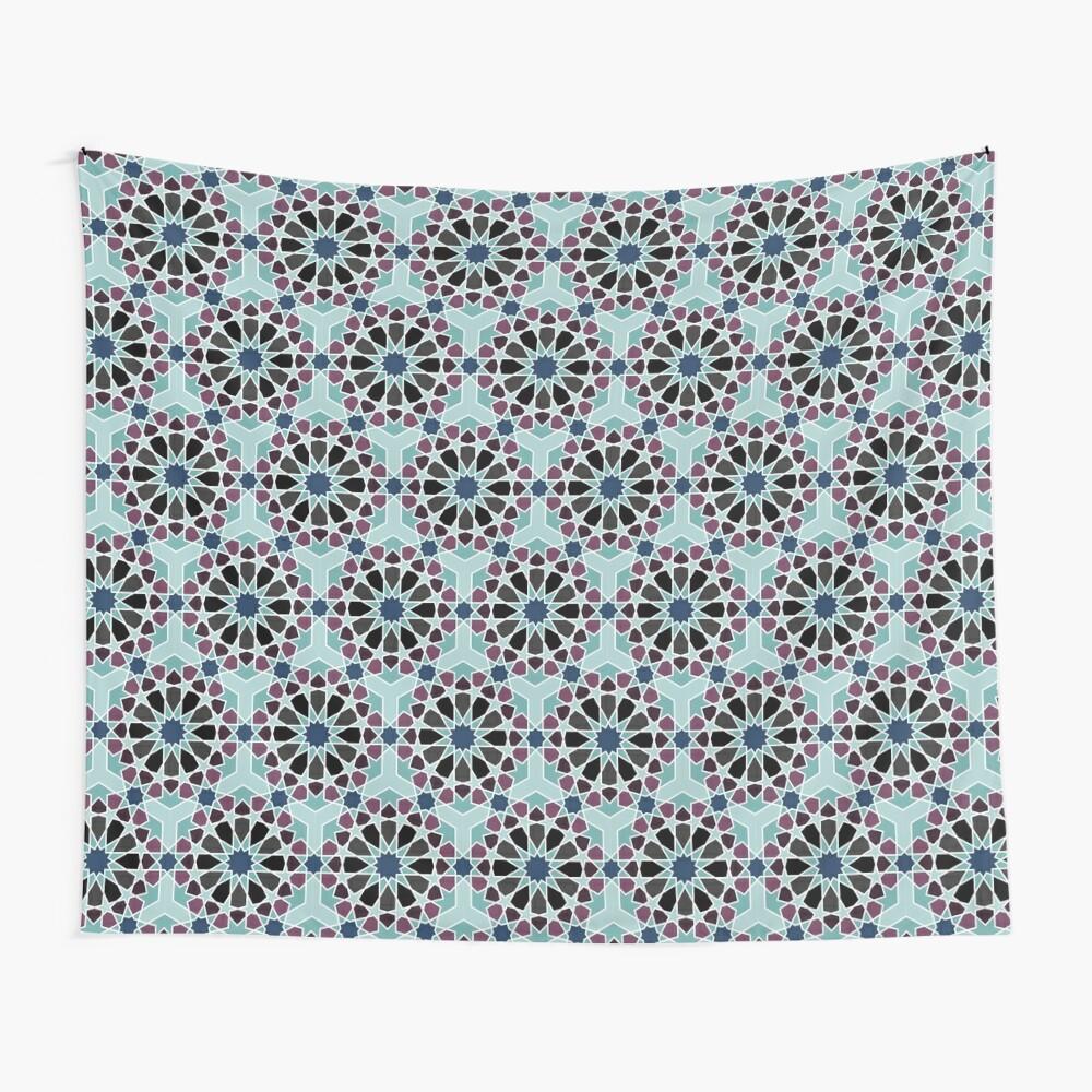 Geometric Pattern: Arabic Tiles: Midnight Wall Tapestry