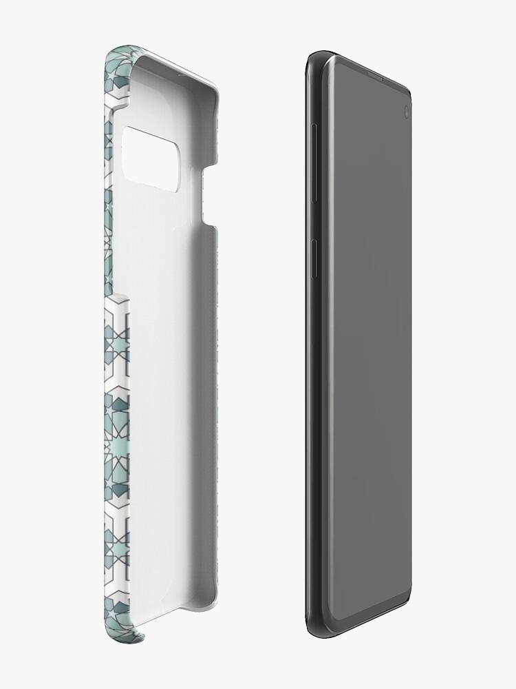 Alternate view of Geometric Pattern: Arabic Tiles: Seafoam Case & Skin for Samsung Galaxy